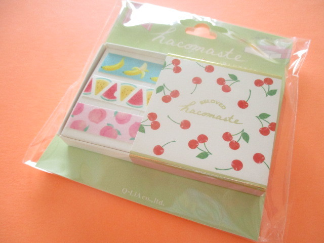 Photo1: Kawaii Cute Beloved Hacomaste Masking Tape Sticker Q-LiA *Fruits (41037)