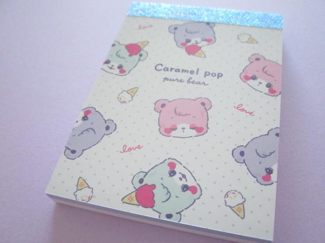 Photo1: Kawaii Cute Mini Memo Pad Crux *Pure Bear (59123)