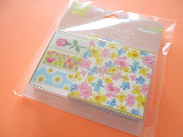Photo1: Kawaii Cute Beloved Hacomaste Masking Tape Sticker Q-LiA *Flower (41034)