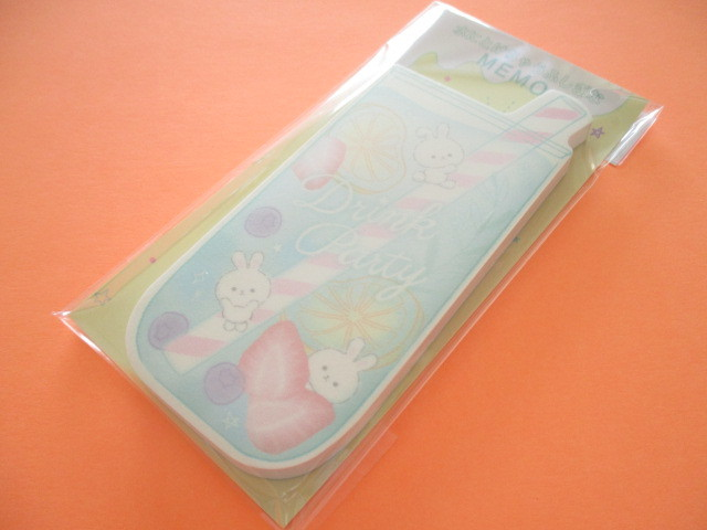 Photo1: Kawaii Cute Mysterious memos that melts in water Q-lia *Drink Party (40221)