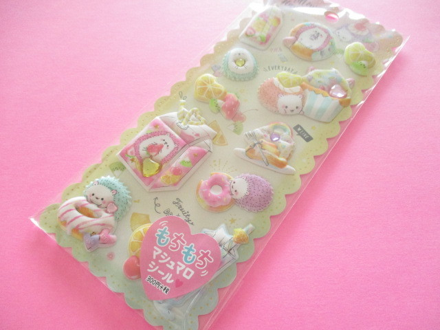 Photo1: Kawaii Cute Puffy Marshmallow Stickers Sheet Crux *Mellow Flavor (73033)