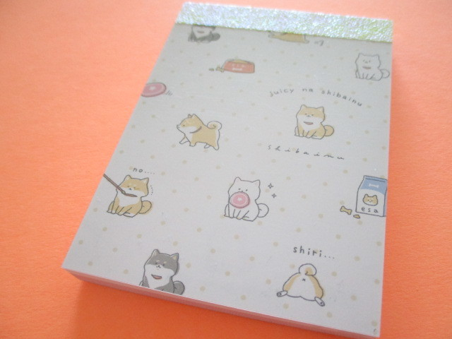 Photo1: Kawaii Cute Mini Memo Pad Kamio Japan *Juicy na Shibainu (26956)