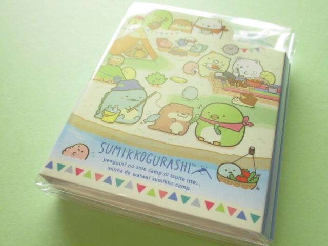 Photo1: Kawaii Cute Patapata Mini Memo Pad Set Sumikkogurashi San-x *Sumikko Camping (MW63201)