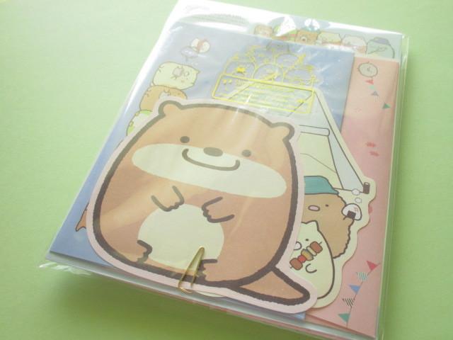 Photo1: Kawaii Cute Regular Letter Set San-x Sumikkogurashi *Sumikko Camping (LH70601)