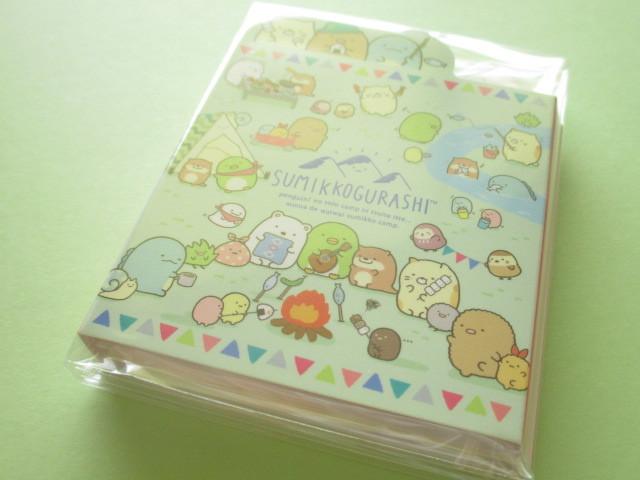 Photo1: Kawaii Cute Patapata Mini Memo Pad Set Sumikkogurashi San-x *Sumikko Camping (MW63301)