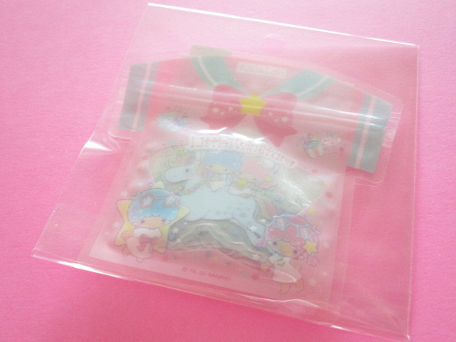 Photo1: Kawaii Cute T-shirt Summer Sticker Flakes Sack Sanrio Original *Little Twin Stars (49226-4)