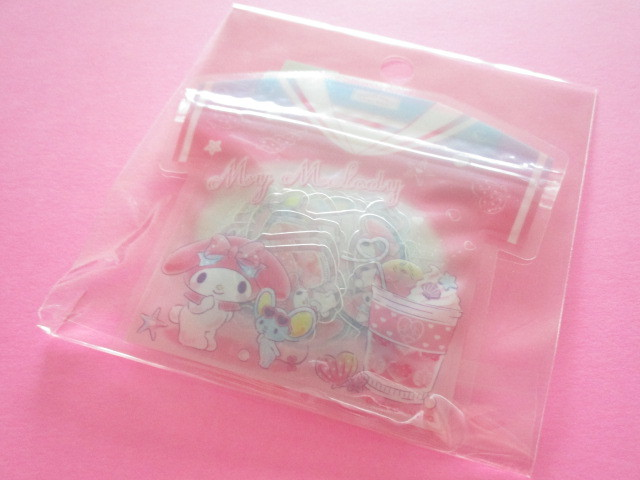 Photo1: Kawaii Cute T-shirt Summer Sticker Flakes Sack Sanrio Original *My Melody  (49233-7)