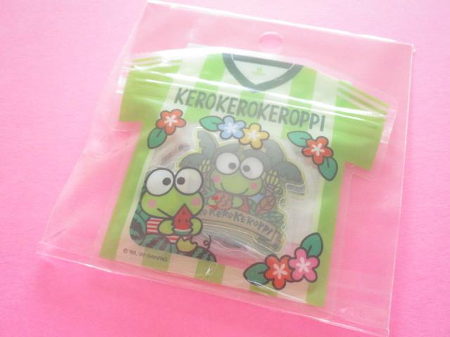 Photo1: Kawaii Cute T-shirt Summer Sticker Flakes Sack Sanrio Original *Kerokerokeroppi (49261-2)