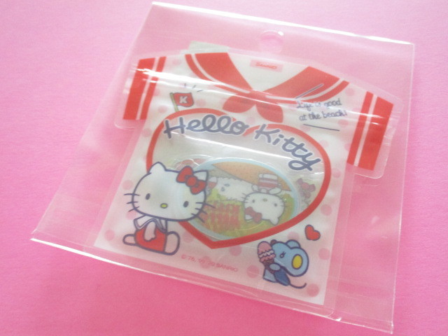 Photo1: Kawaii Cute T-shirt Summer Sticker Flakes Sack Sanrio Original *Hello Kitty (49225-6)
