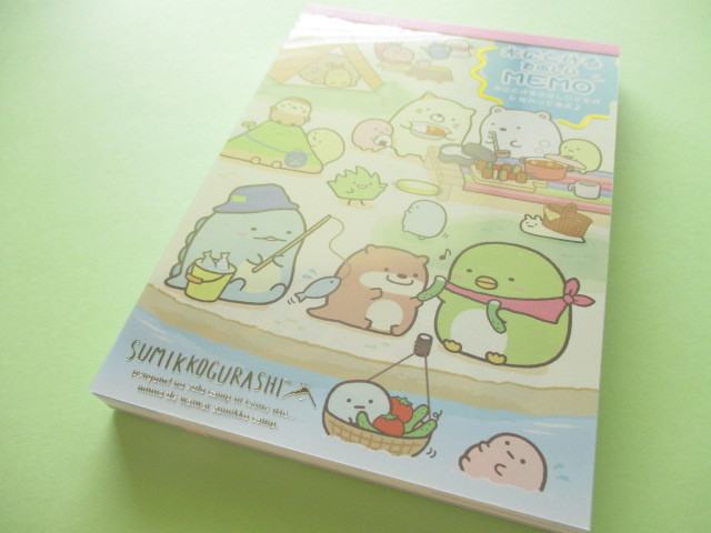 Photo1: Kawaii Cute Large Memo Pad Sumikkogurashi San-x *Sumikko Camping (MW63401)