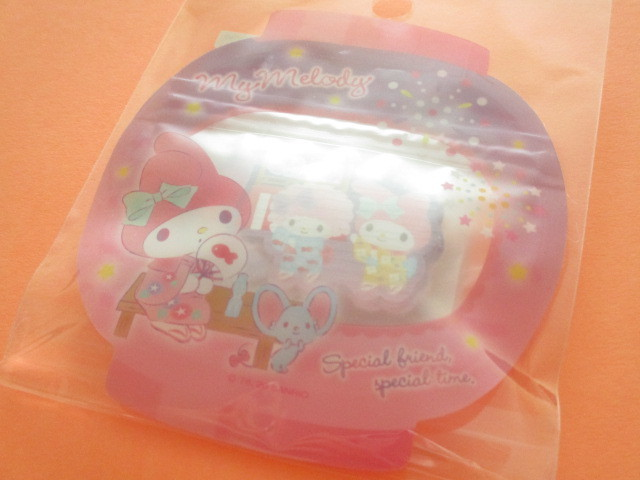 Photo1: Kawaii Cute 和風 Summer Sticker Flakes Sack Sanrio Original  *My Melody (49209-4)