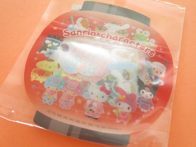 Photo1: Kawaii Cute 和風 Summer Sticker Flakes Sack Sanrio Original  *Sanrio Characters (49221-3)