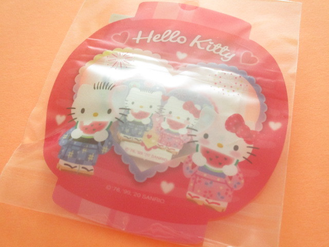Photo1: Kawaii Cute 和風 Summer Sticker Flakes Sack Sanrio Original *Hello Kitty (49206-0)