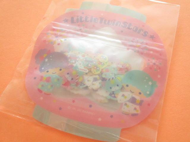 Photo1: Kawaii Cute 和風 Summer Sticker Flakes Sack Sanrio Original  *Little Twin Stars (49207-8)