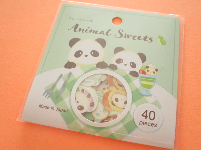 Photo1: Kawaii Cute Animal Sweets Sticker Flakes Sack Gaia *Panda (465732)