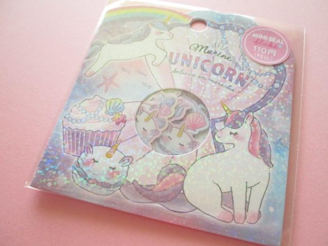 Photo1: Kawaii Cute Sticker Flakes Sack Crux *Manine Unicorn (73060)
