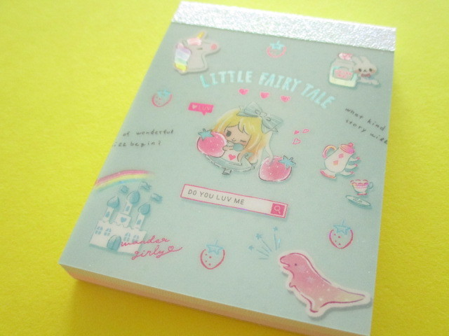 Photo1: Kawaii Cute Mini Memo Pad Little Fairy Tale Q-LiA *Alice (44858)