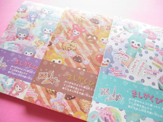 Photo1: Set of 3 Kawaii Cute Square Letter Pads Lemon *Lovely Doll Dreamy (887161)