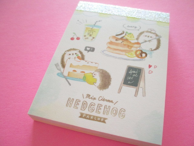 Photo1: Fruits Stationery Mini Memo Pad Q-LiA *はりねずみ Hedgehog (44790)