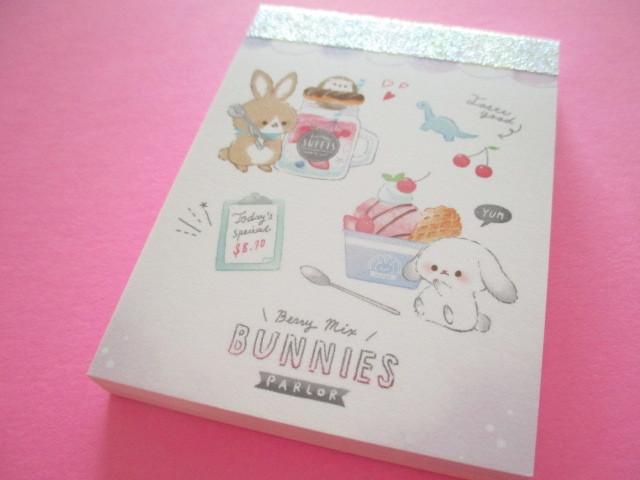 Photo1: Fruits Stationery Mini Memo Pad Q-LiA *うさぎ Rabbit (44791)