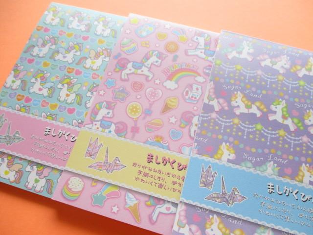 Photo1: 3 packs Kawaii Cute Square Letter Pads Set Lemon *Sugar Land (887117)