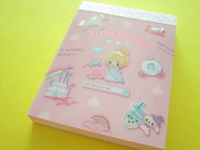 Photo1: Kawaii Cute Mini Memo Pad Little Fairy Tale Q-LiA *Merry Cinderella (34860)
