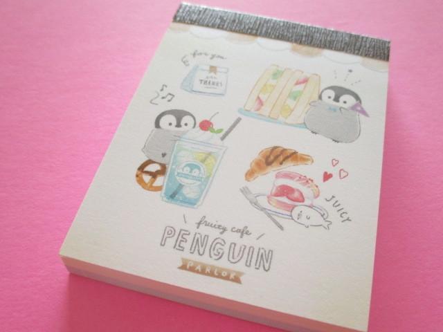 Photo1: Fruits Stationery Mini Memo Pad Q-LiA *ペンギン Penguin (44793)
