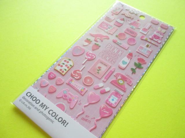 Photo1: Kawaii Cute Choo My Color Stickers Sheet Q-LiA * Favorite Pink (41169)