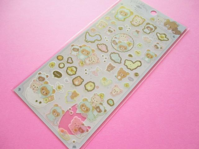 Photo1: Kawaii Cute Sticker Sheet Rilakkuma San-x *Dinosaur Costumes (SE48101)