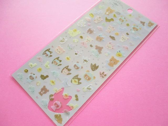 Photo1: Kawaii Cute Sticker Sheet Rilakkuma San-x *Dinosaur Costumes (SE48102)