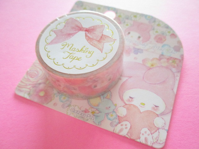 Photo1: Kawaii Cute Masking Tape Sticker My Melody × たけいみき Miki Takei Sanrio *Flower Fairies (MT-15456)