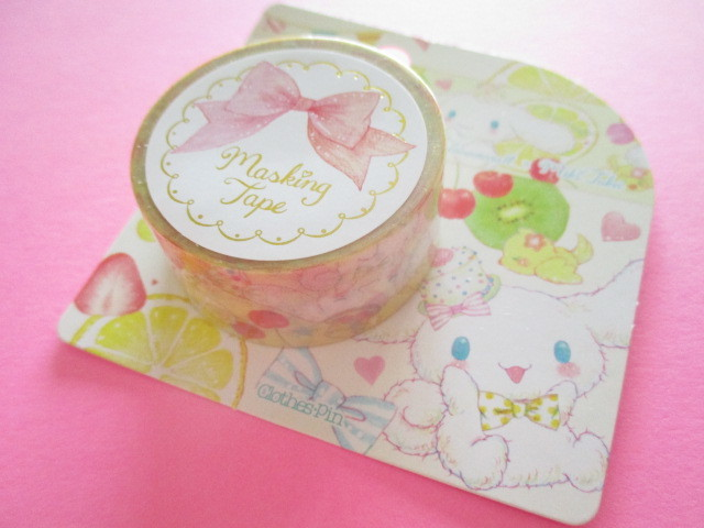 Photo1: Kawaii Cute Masking Tape Sticker Cinnamoroll  × たけいみき Miki Takei Sanrio *Fresh Citrus (MT-15455)