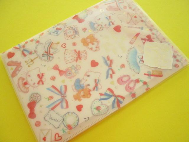 Photo1: Kawaii Cute Letter Set Hello Kitty × たけいみき Miki Takei Sanrio *Paris and Ribbons (LS-15462)