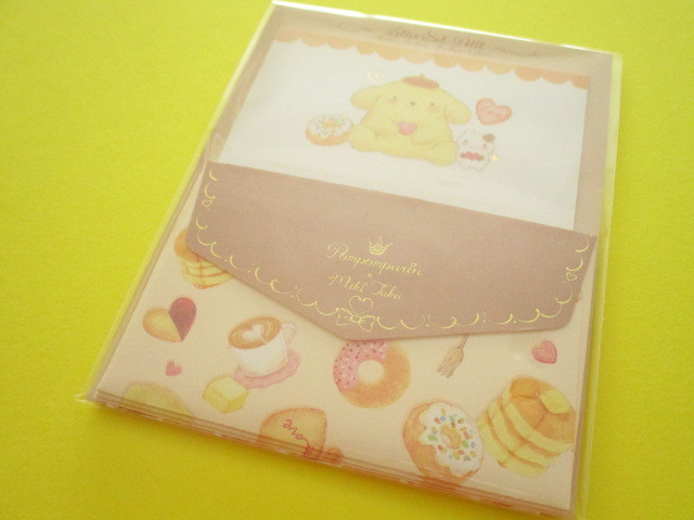 Photo1: Kawaii Cute Mini Letter Set POMPOMPURIN × たけいみき Miki Takei Sanrio *Soufflé (LS-15469)