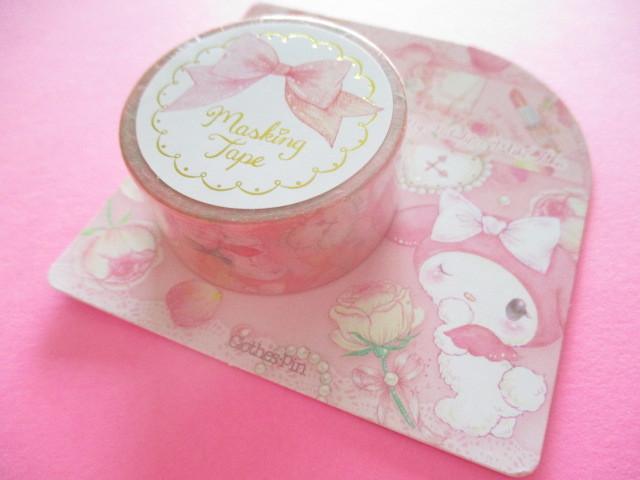 Photo1: Kawaii Cute Masking Tape Sticker My Melody × たけいみき Miki Takei Sanrio *Girly Fleur (MT-15452)