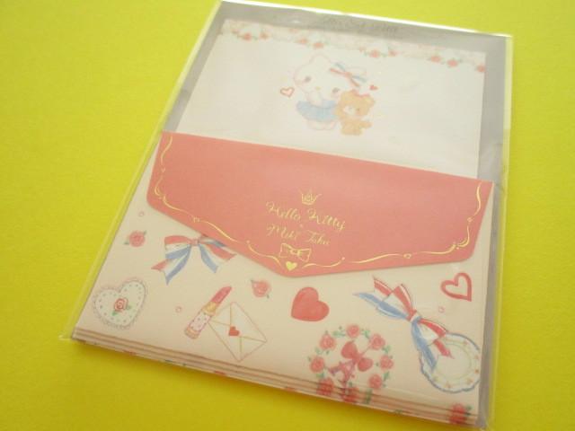 Photo1: Kawaii Cute Mini Letter Set Hello Kitty × たけいみき Miki Takei Sanrio *Paris and Ribbons (LS-15466)