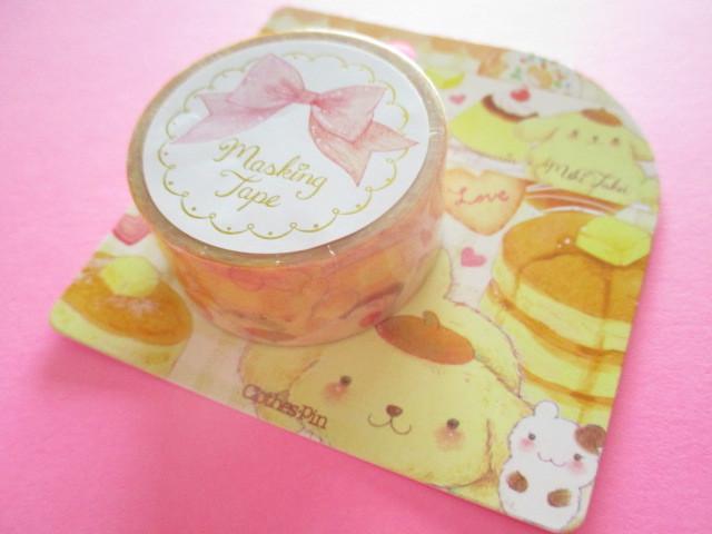 Photo1: Kawaii Cute Masking Tape Sticker POMPOMPURIN × たけいみき Miki Takei sanrio *Soufflé   (MT-15457)