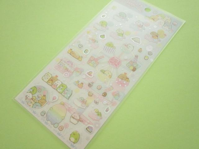 Photo1: Kawaii Cute Sticker Sheet Sumikkogurashi San-x *Tapioca Park (SE48001)