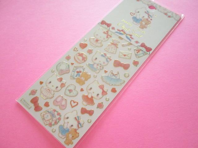 Photo1: Kawaii Cute Stickers Sheet Hello Kitty × たけいみき Miki Takei Sanrio *Paris and Ribbons (US-15458)