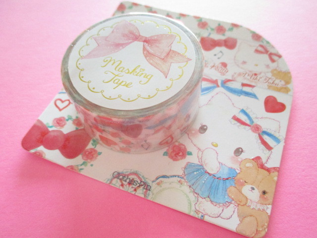 Photo1: Kawaii Cute Masking Tape Sticker  Hello Kitty × たけいみき Miki Takei Sanrio *Paris and Ribbon (MT-15454)