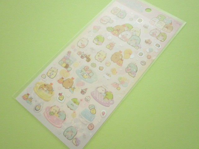 Photo1: Kawaii Cute Sticker Sheet Sumikkogurashi San-x *Tapioca Park (SE47901)