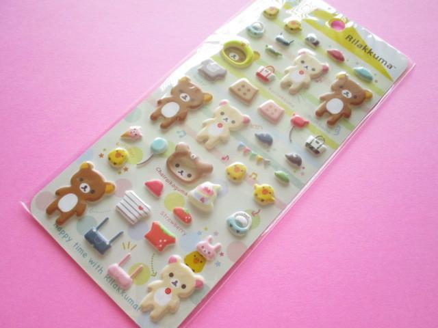 Photo1: Kawaii Cute Funi Funi Stickers Sheet San-x *Rilakkuma (SE48603)