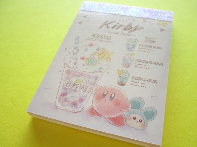 Photo1: Kawaii Cute Mini Memo Pad Kirby Kamio Japan *Twinkle Dessert (18205)