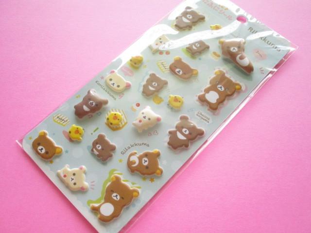 Photo1: Kawaii Cute Funi Funi Stickers Sheet San-x *Rilakkuma (SE48602)