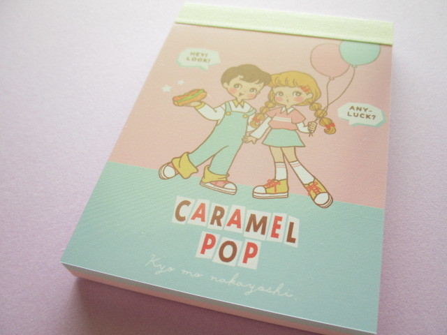 Photo1: Kawaii Cute Caramel Pop Mini Memo Pad Crux *Retro (59532)