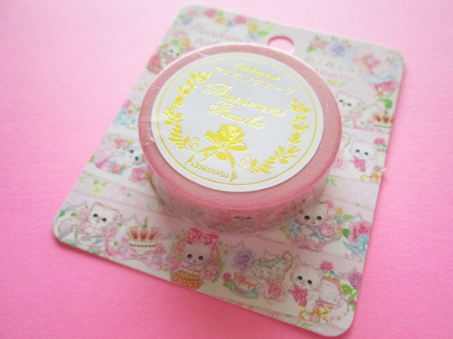 Photo1: Kawaii Cute Masking Tape Sticker  Amenomori Fumika  Clothes Pin *Rose (MT-13718)