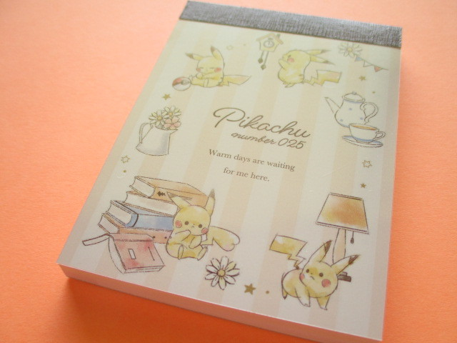 Photo1: Kawaii Cute Pikachu Mini Memo Pad Cute Model *Afternoon (17713)