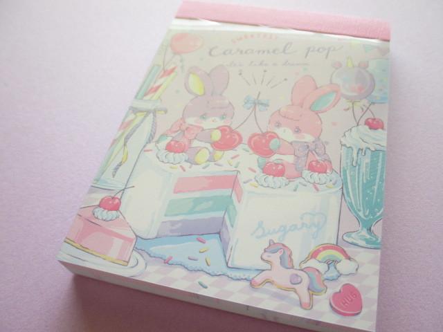 Photo1: Kawaii Cute Caramel Pop Mini Memo Pad Crux *Sweetest (59535)