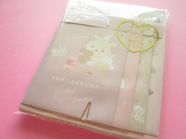 Photo1: Kawaii Cute Regular Letter Set Rilakkuma San-x *Korilakkuma & Usagi Teatime  (LH71101)