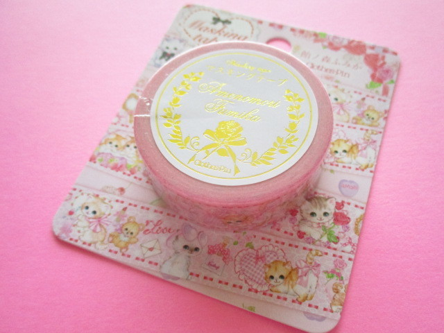 Photo1: Kawaii Cute Masking Tape Sticker  Amenomori Fumika  Clothes Pin *Girly  (MT-13720)